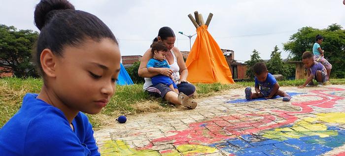 Potrero Grande se transforma en un colorido escenario para las niñas y los niños de Cali