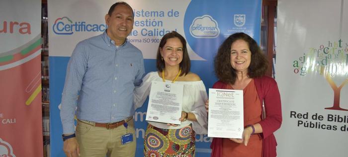 Secretaría de Cultura recibió la certificación Icontec para cuatro bibliotecas públicas.