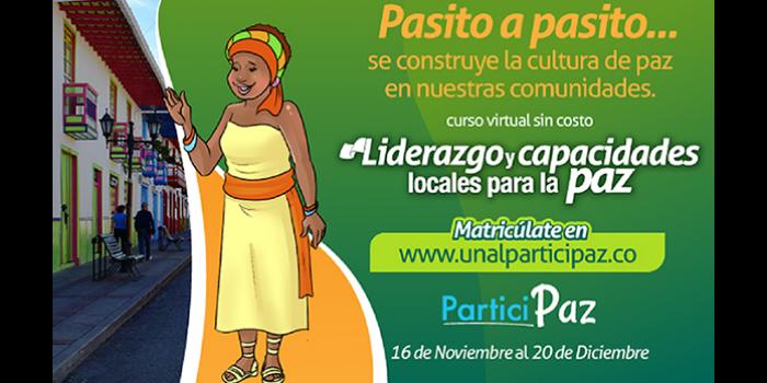 Regresa 'Participaz, curso de formación en paz y reconciliación