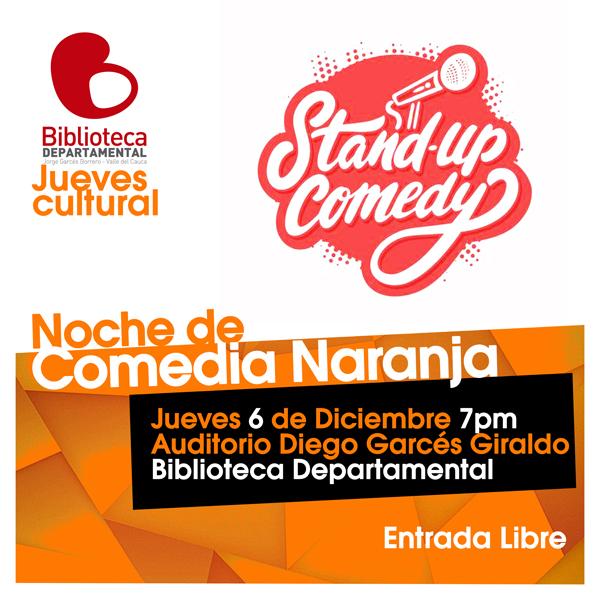 Comedia Naranja en Jueves Culturales de la Biblioteca Departamental
