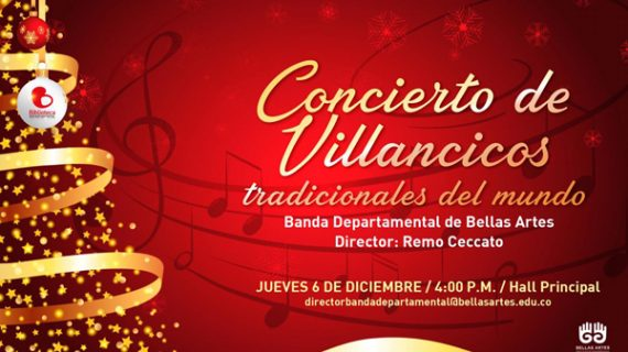 Concierto de navidad con la Banda Departamental de Bellas Artes