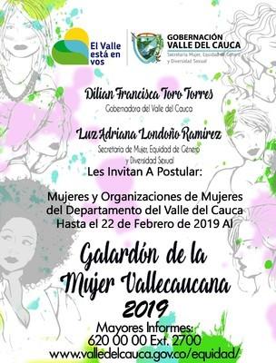 Gobernadora del Valle invita a participar del Galardón de la Mujer Vallecaucana
