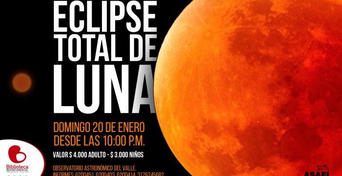 El domingo, eclipse total de luna
