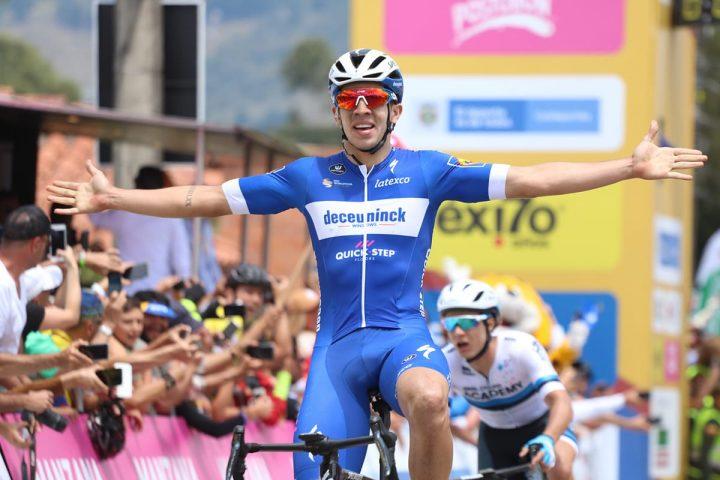 Álvaro Hodeg sorprendió en La Ceja y es nuevo líder del Tour Colombia UCI 2.1
