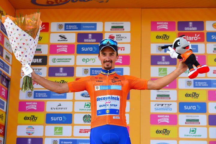 Julian Alaphilipe, se encumbró en La Unión y es nuevo líder del Tour Colombia UCI 2.1