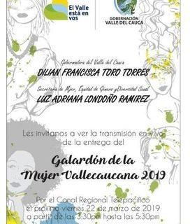 Este viernes se entrega el Galardón de la Mujer Vallecaucana