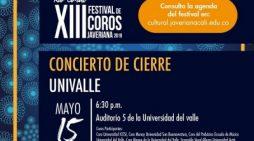 Grupos de Univalle en el cierre del XIII Festival de Coros Javeriana 2019