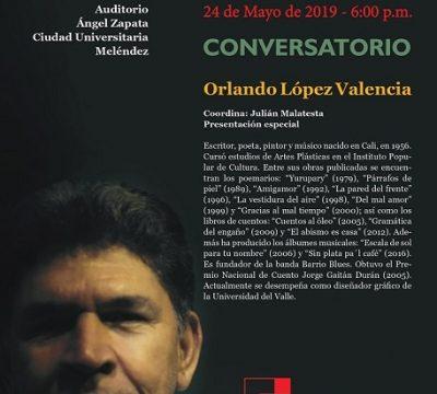 Orlando López Valencia en Viernes de Letras