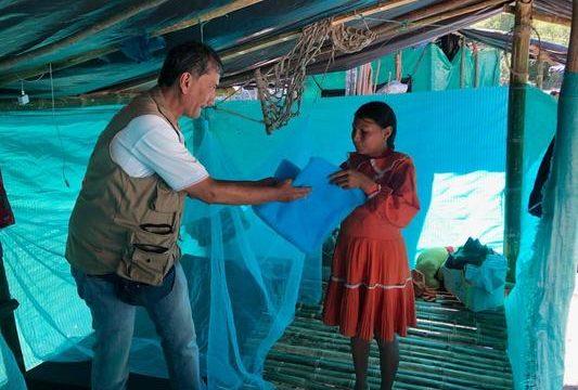 UESVAlle entrega toldillos a comunidad indígena de Bolívar