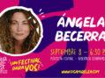Ángela Becerra juega de local en Oiga Mire Lea