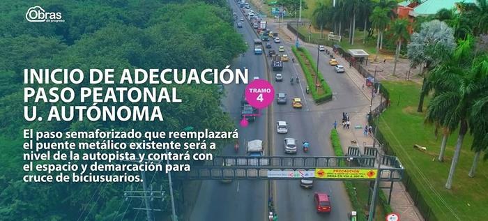 Comienza adecuación de paso peatonal frente a Universidad Autónoma