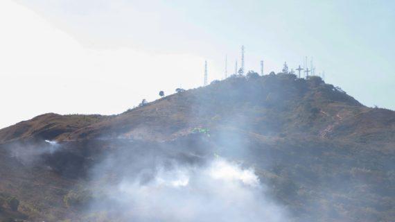 Brigadistas visitaron sitios afectados por incendios forestales