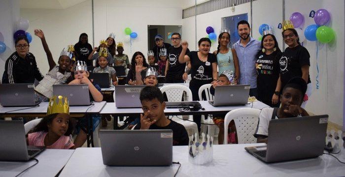 Niños y niñas de El Calvario se gozaron el Tecnofest 2019 con el taller 'Mi Súper Poder es la Programación'