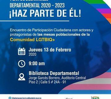 Mañana se realiza Encuentro de Participación Ciudadana con comunidad LGTBI