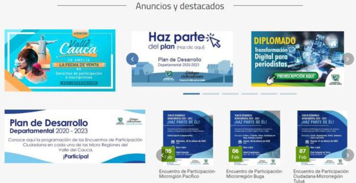 Vallecaucanos podrán participar de la construcción del Plan de Desarrollo a través de una nueva plataforma digital