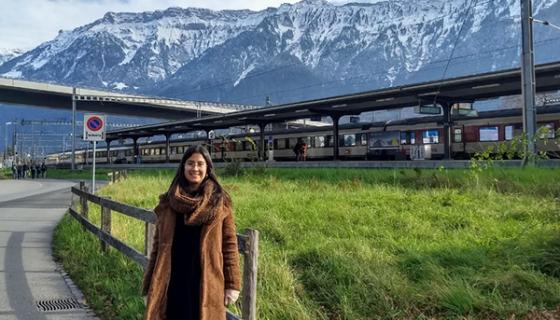 Estudiante de la Autónoma en Suiza