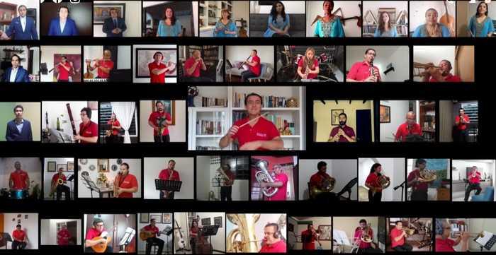 'Tarima virtual', apuesta musical en la que participó la Banda Departamental de Bellas Artes en medio del aislamiento del Covid-19