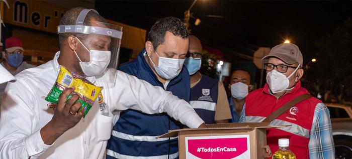 1.500 familias de El Vergel despertaron con apoyo alimentario