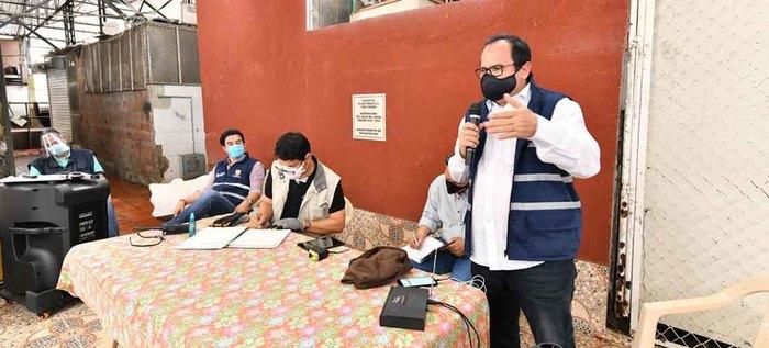 Medidas para frenar el contagio por covid-19 en la plaza de mercado Santa Elena y su entorno