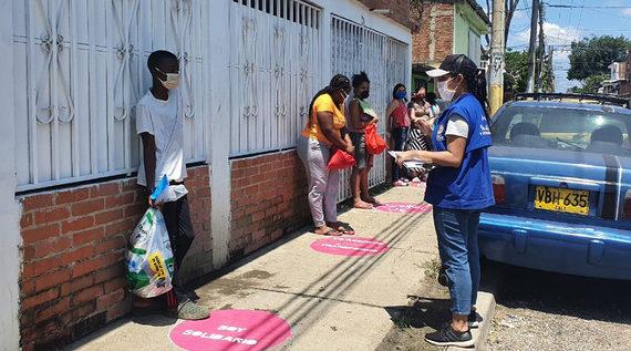 Arte Urbano en los comedores comunitarios para enseñar el autocuidado