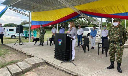 Con un mensaje de agradecimiento, Gobernadora les pidió a las fuerzas militares continuar su labor por un 'Valle Invencible'