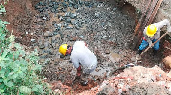 Adelantan actividades de excavación en la Avenida Circunvalar