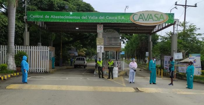 Secretaría de Salud del Valle lidera operativos en Cavasa para mantener esta central de abastos libre de COVID-19