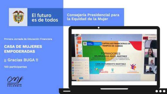 Secretaría de Mujer del Valle y la Casa de Mujeres Empoderadas adelanta capacitación en educación financiera