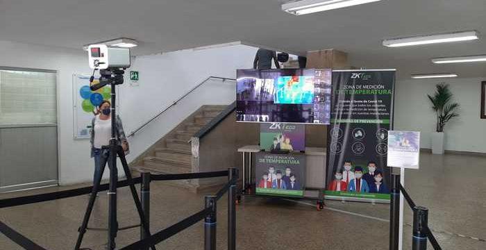 Cerco epidemiológico, con estrictas medidas de bioseguridad, continúa en el edificio de la Gobernación