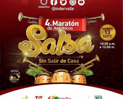 A ritmo de salsa se vivirá la cuarta maratón de aeróbicos 'Sin salir de casa'