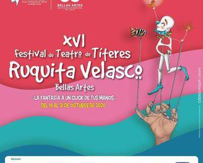 A un clic y en la virtualidad, así será el XVI Festival de Teatro de Títeres 'Ruquita Velasco' de Bellas Artes