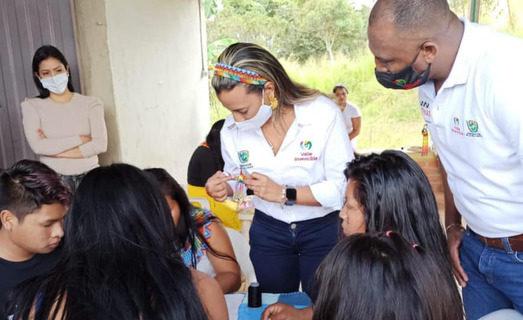 Con la maestría de los ancestros, artesanas indígenas elaboran los suvenires de los Juegos Panamericanos Junior 2021