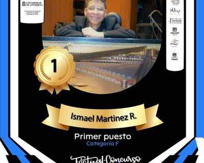 Ismael Martínez, estudiante de Bellas Artes, se alzó con el primer lugar del Festival Pianissimo de Medellín
