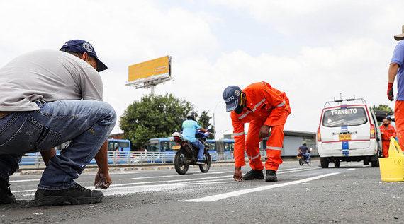 Secretaría de Movilidad ha demarcado más de 25000 metros cuadrados de vías