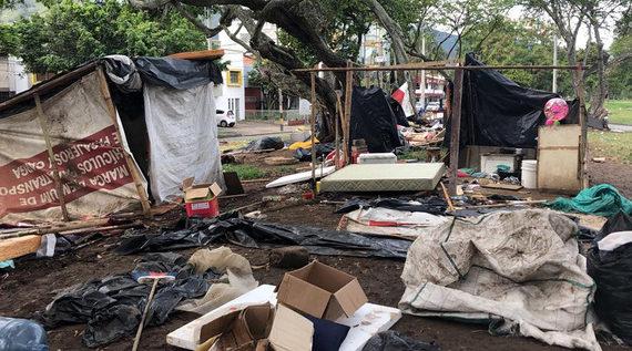Alcaldía recuperó espacio público ocupado por migrantes venezolanos