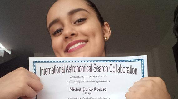 Dayana Peña, estudiante caleña, obtuvo reconocimiento de la NASA